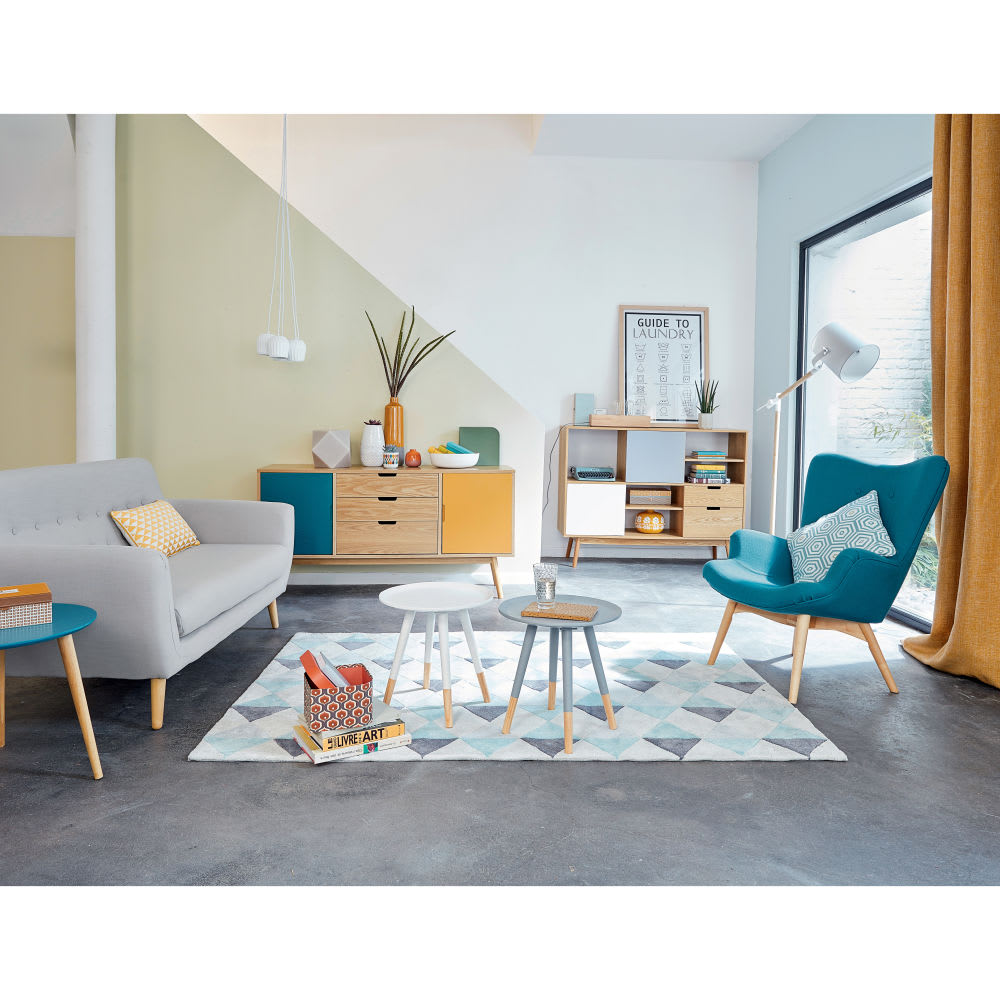 Canap style scandinave 2 3 places gris iceberg maisons du monde - Maison style scandinave ...