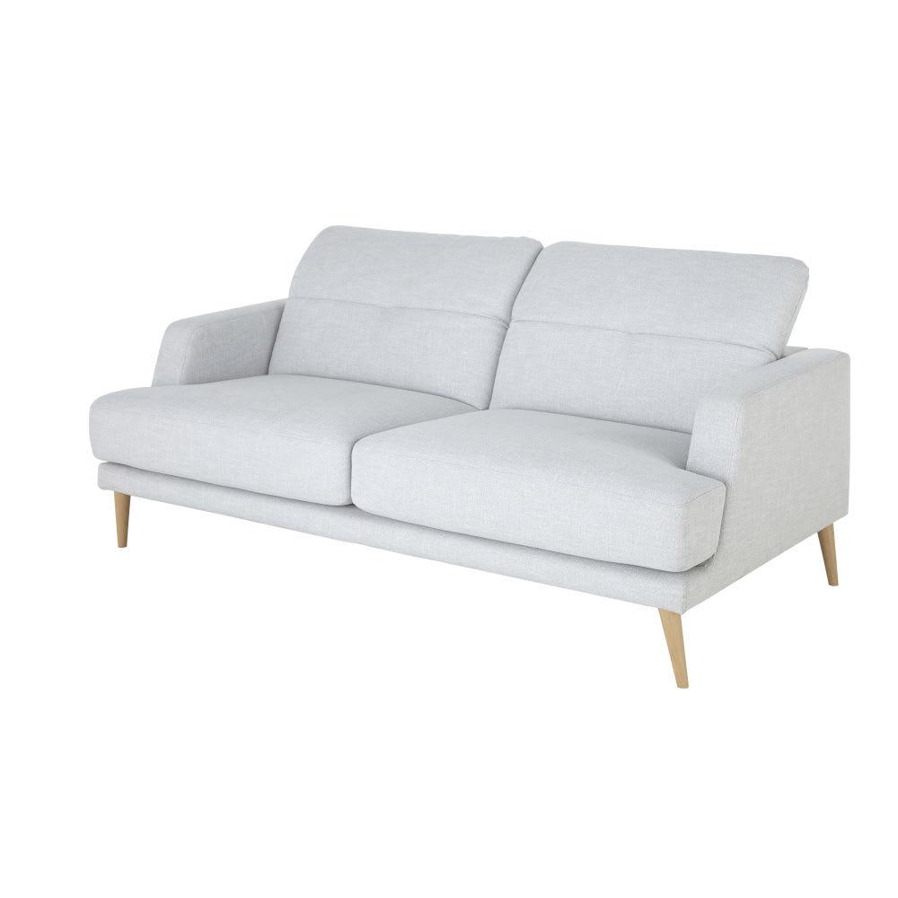 canap style scandinave 3 places gris clair missouri. Black Bedroom Furniture Sets. Home Design Ideas