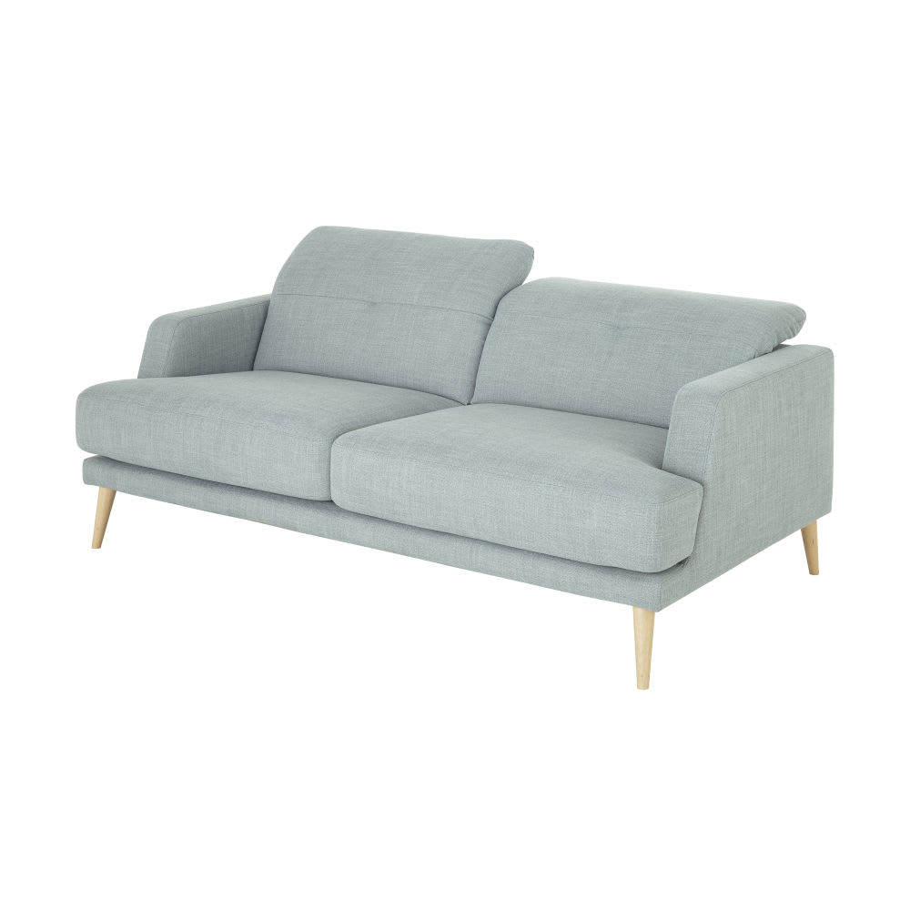 canap style scandinave 3 places vert missouri maisons. Black Bedroom Furniture Sets. Home Design Ideas