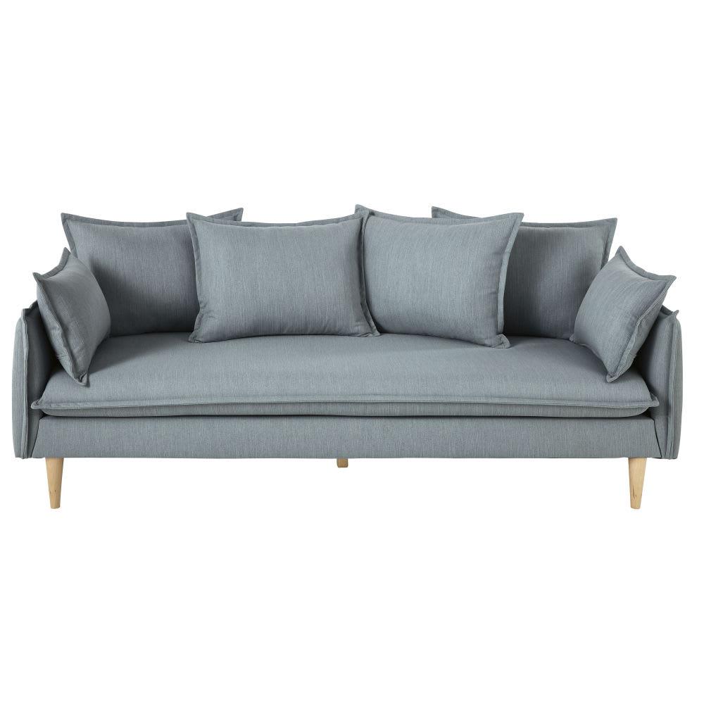 canap style scandinave 4 places bleu nilson maisons du. Black Bedroom Furniture Sets. Home Design Ideas