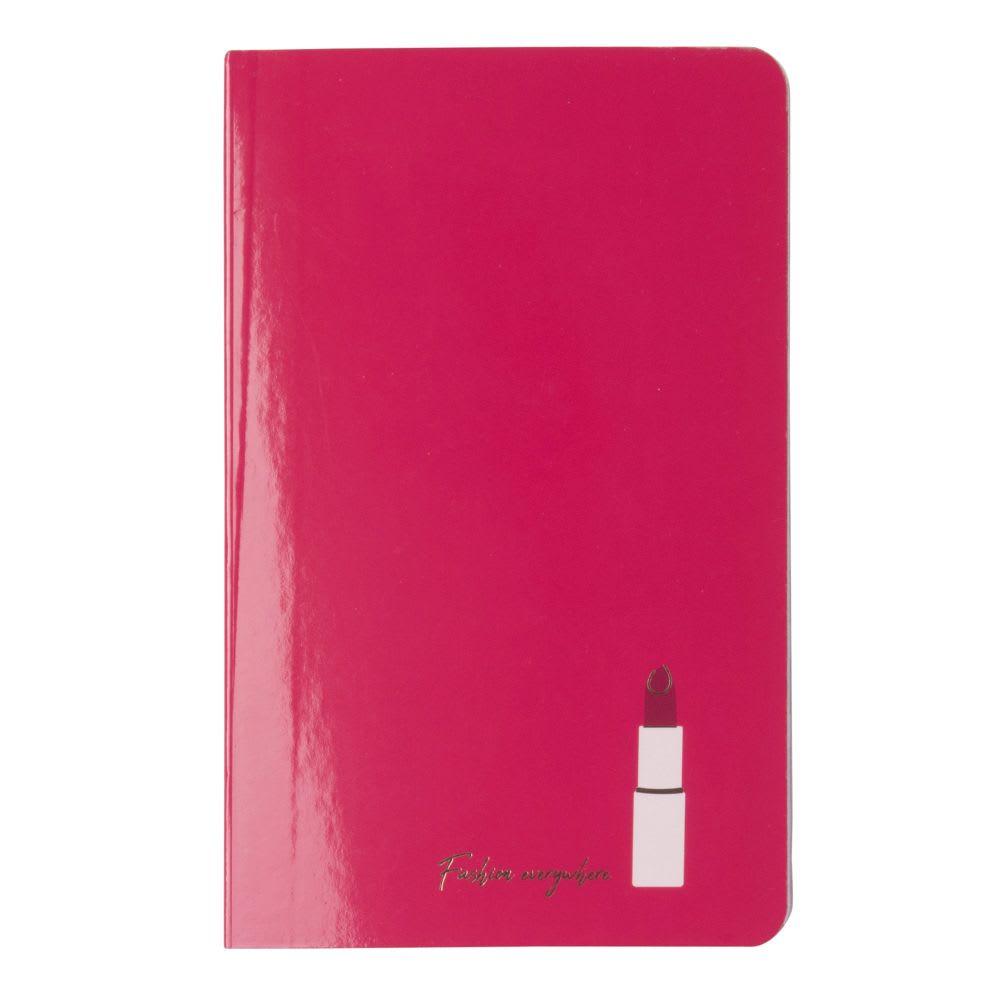 Agreable Carnet De Notes Imprimé Rouge à Lèvres En Papier Glossy