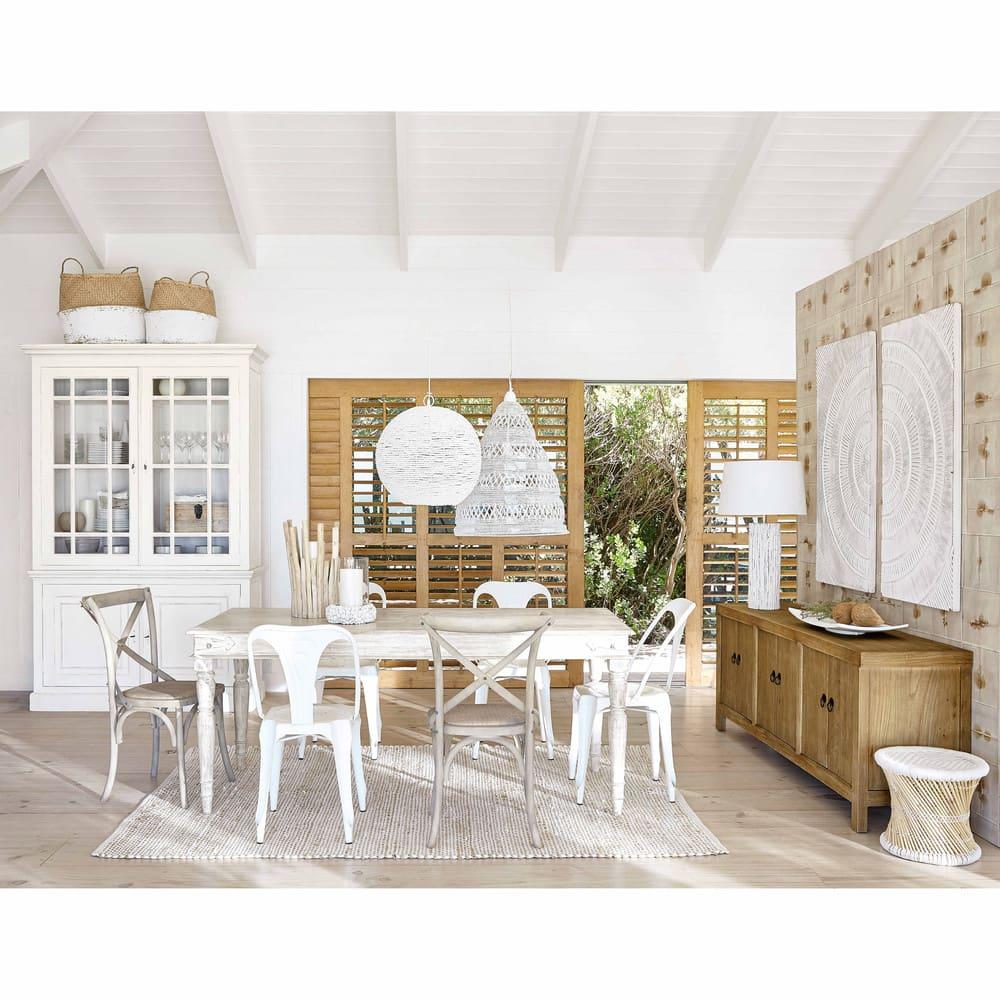 chaise bistrot en rotin et bouleau tradition maisons du. Black Bedroom Furniture Sets. Home Design Ideas