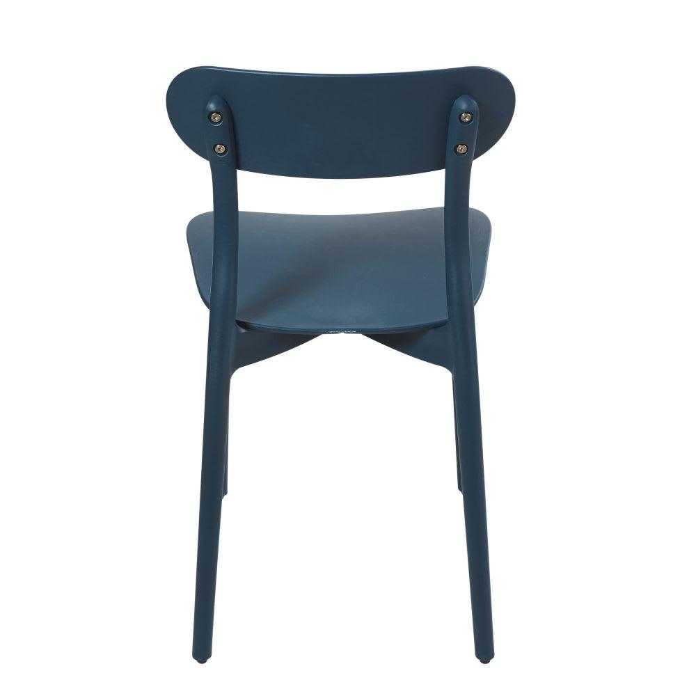 chaise bleu p trole eve maisons du monde. Black Bedroom Furniture Sets. Home Design Ideas