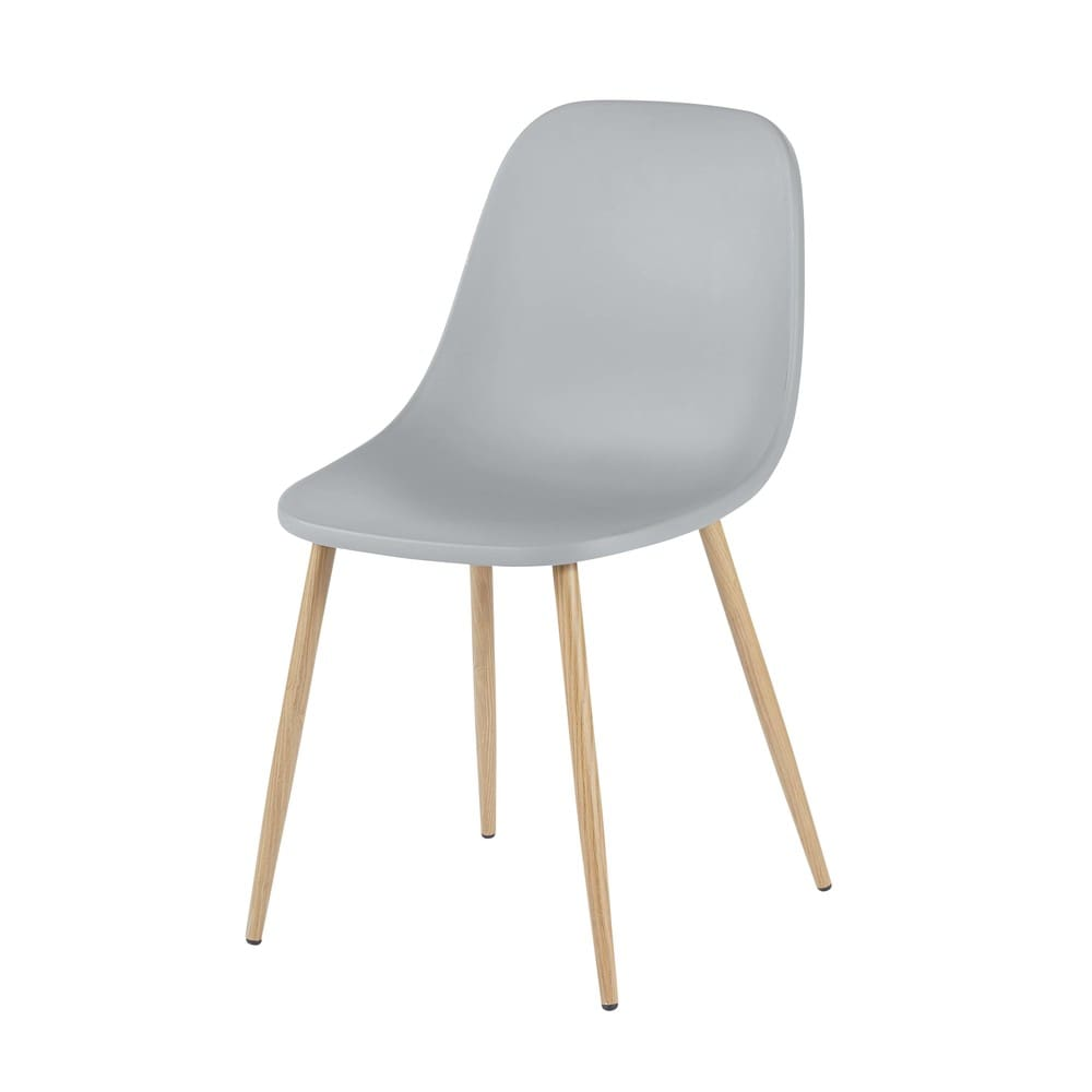 chaise contemporaine grise fibule maisons du monde. Black Bedroom Furniture Sets. Home Design Ideas