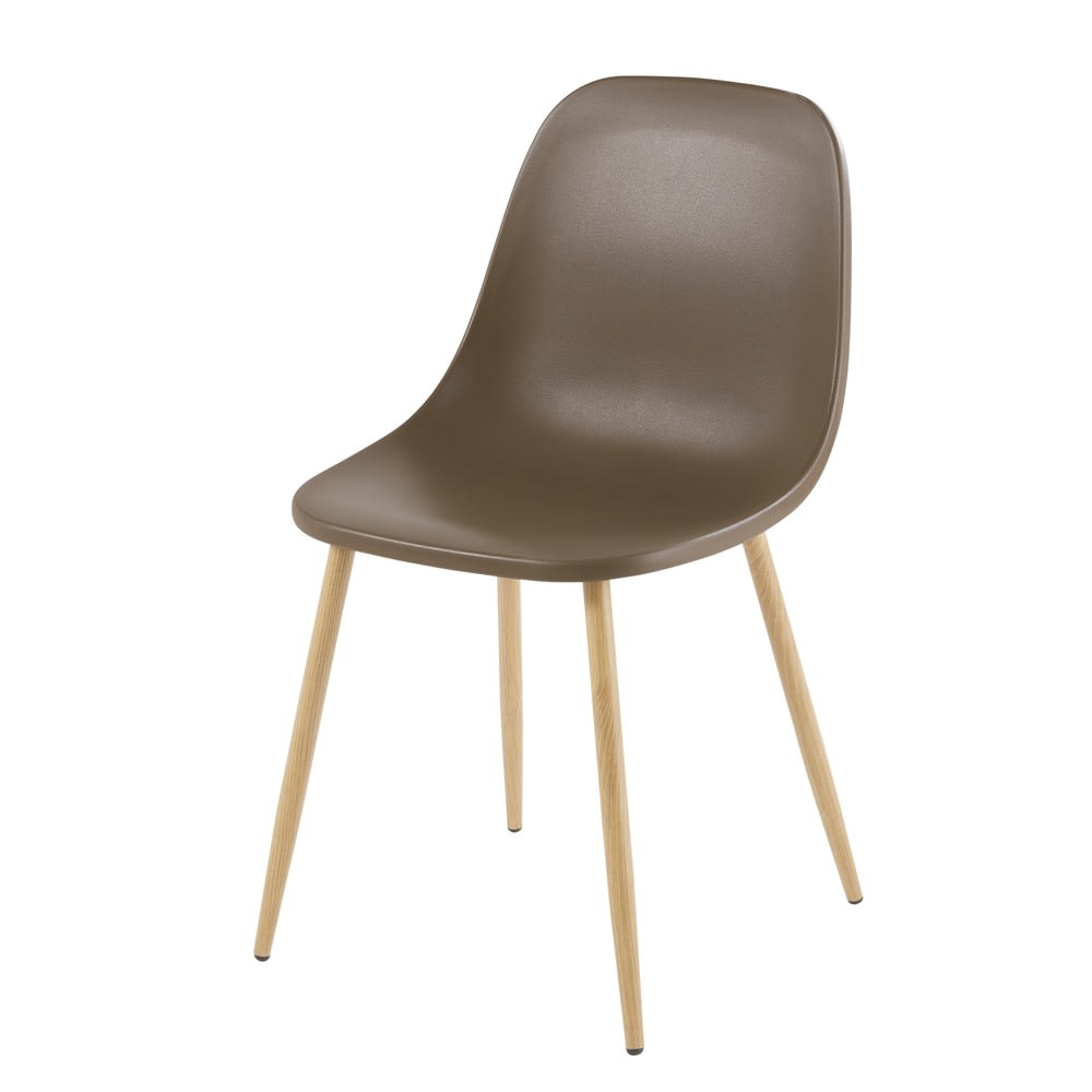 chaise contemporaine vert kaki fibule maisons du monde. Black Bedroom Furniture Sets. Home Design Ideas