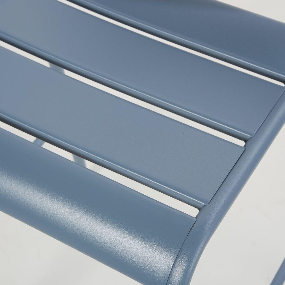 chaise de bar de jardin en m tal bleu gris batignolles. Black Bedroom Furniture Sets. Home Design Ideas
