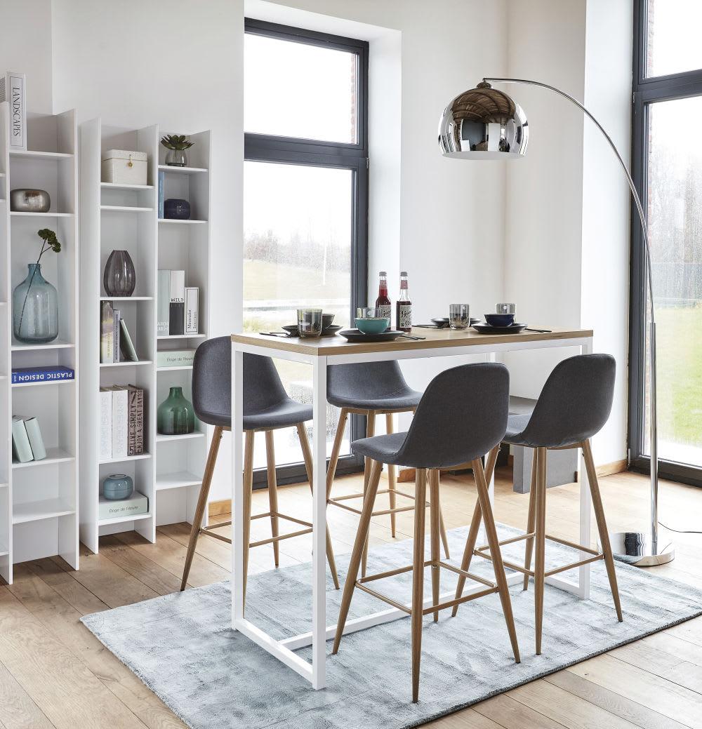 chaise de bar en microsu de marron vieilli clyde maisons. Black Bedroom Furniture Sets. Home Design Ideas