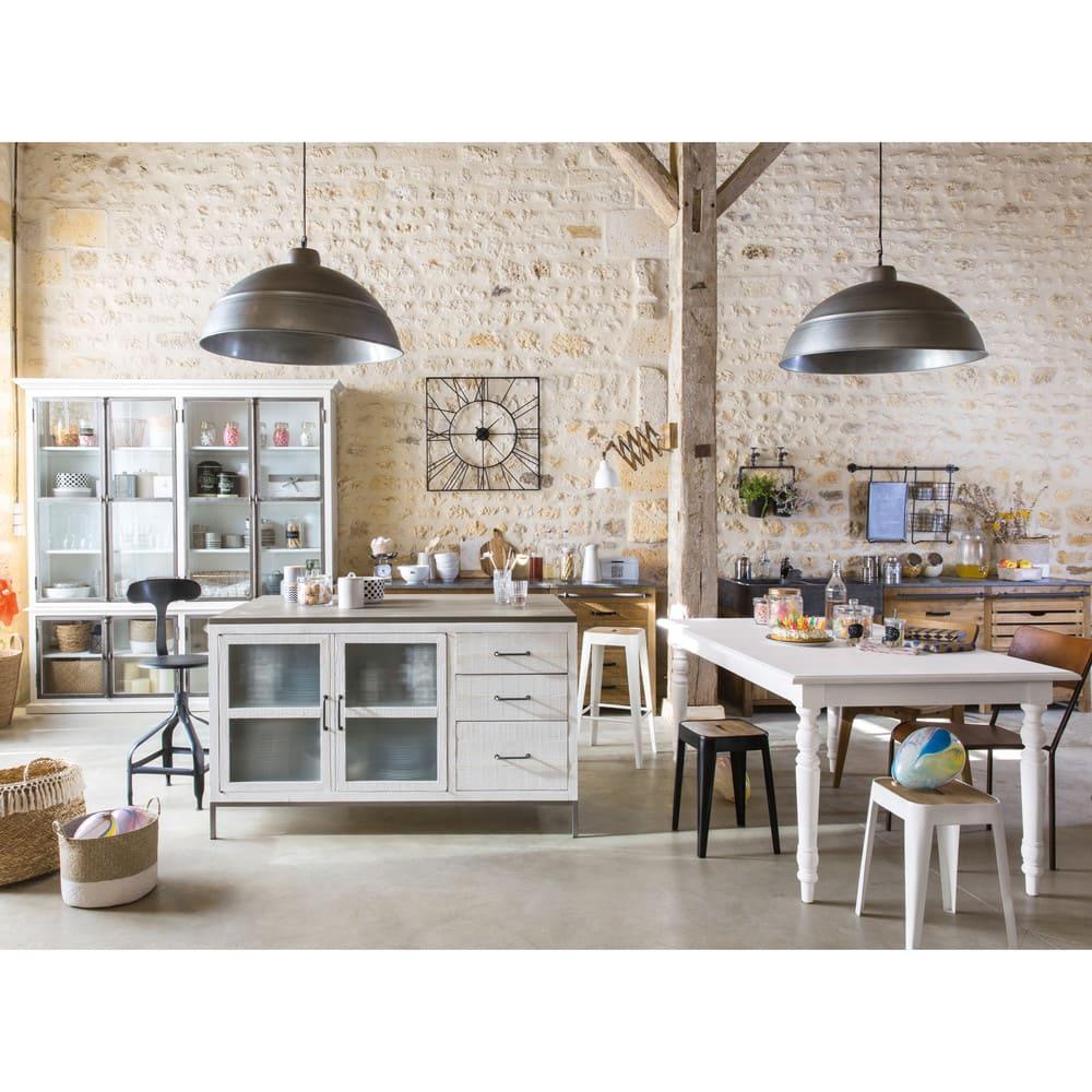 chaise de bar indus en m tal noir t l graphe maisons du. Black Bedroom Furniture Sets. Home Design Ideas