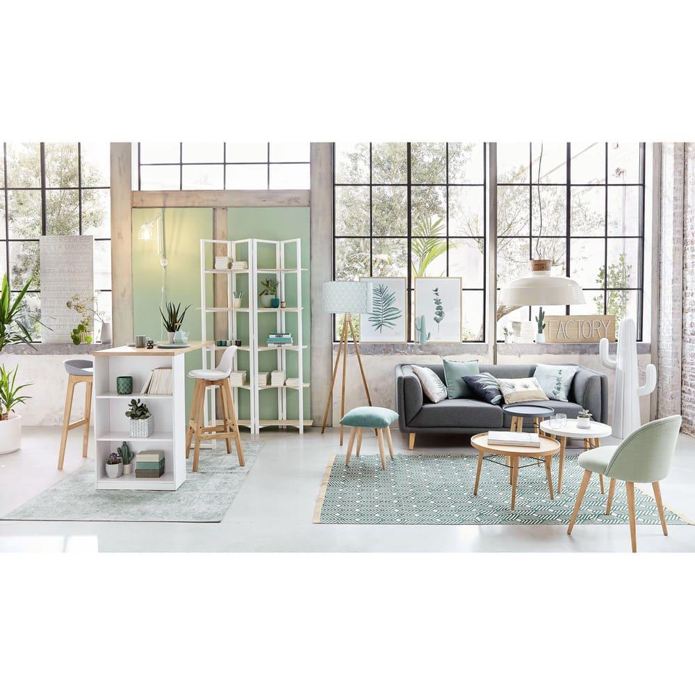 chaise de bar style scandinave blanche et ch ne ice. Black Bedroom Furniture Sets. Home Design Ideas