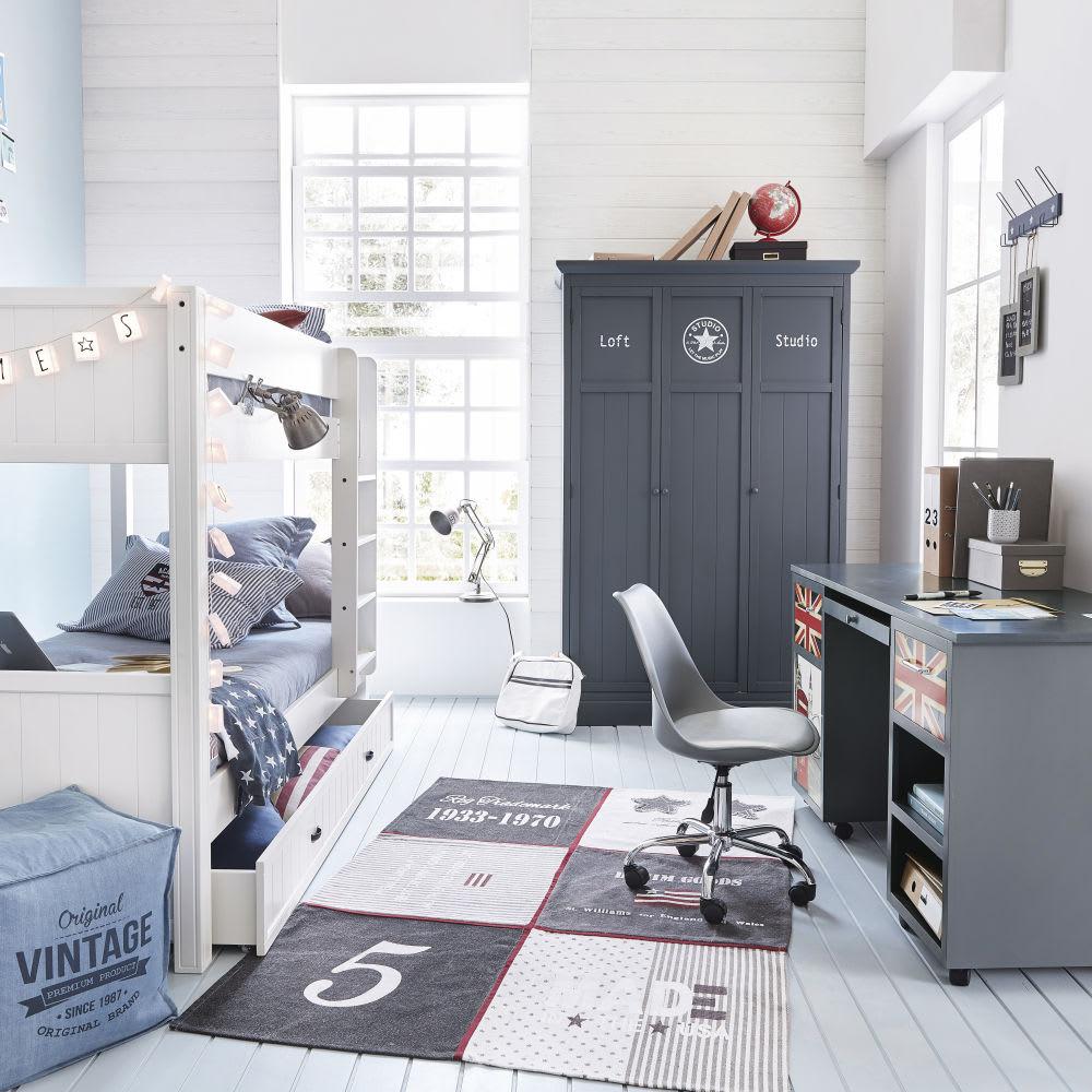 Chaise de bureau roulettes grise bristol maisons du monde - Bureau des cartes grises ...