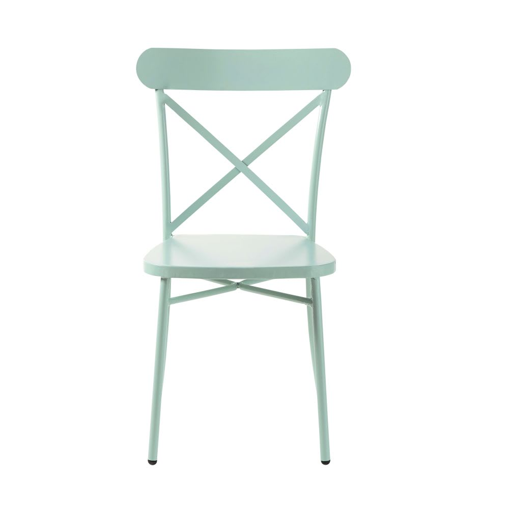 chaise de jardin bistrot en m tal vert d 39 eau tradition. Black Bedroom Furniture Sets. Home Design Ideas