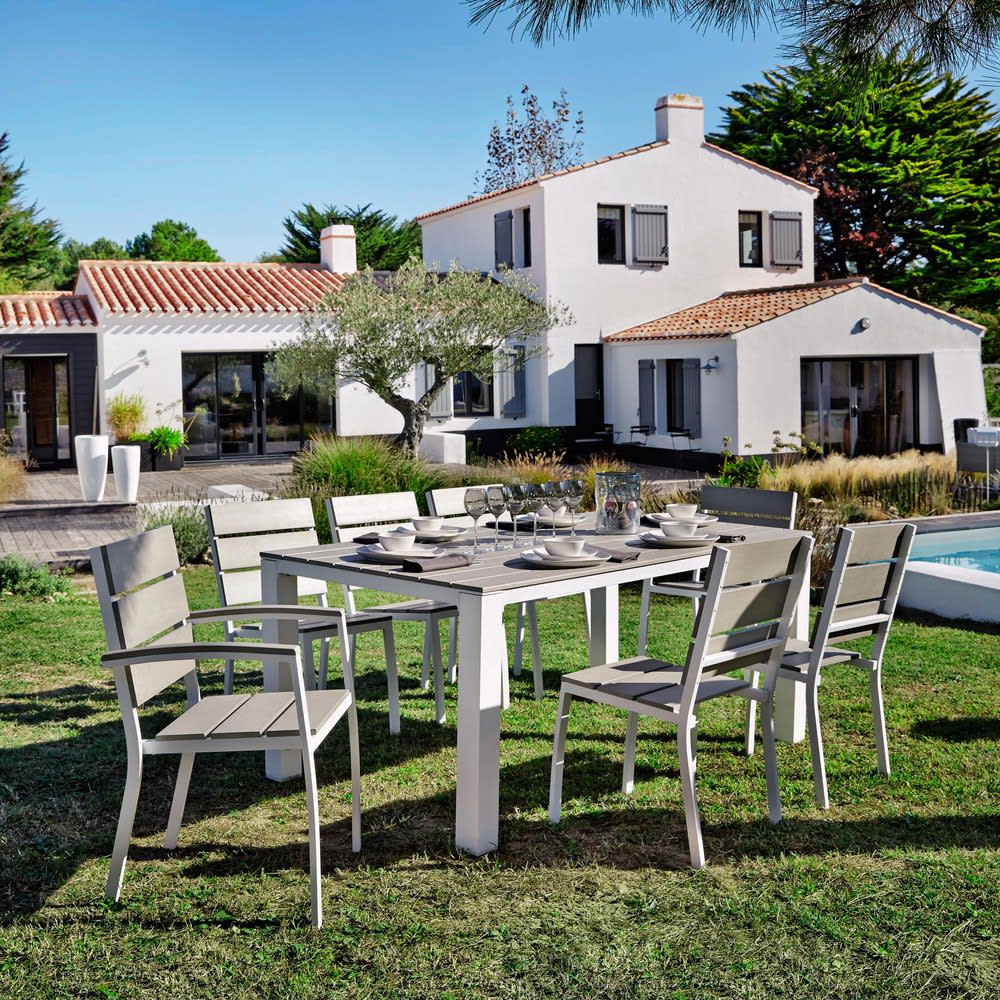 Chaise de jardin en aluminium et composite escale maisons du monde - Chaise de jardin aluminium ...