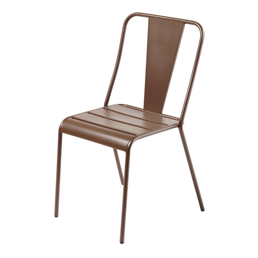 Chaise De Jardin En Metal Marron Harrys