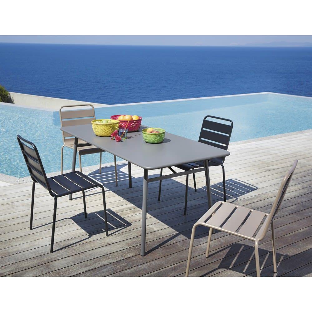 chaise de jardin en m tal noire batignolles maisons du monde. Black Bedroom Furniture Sets. Home Design Ideas