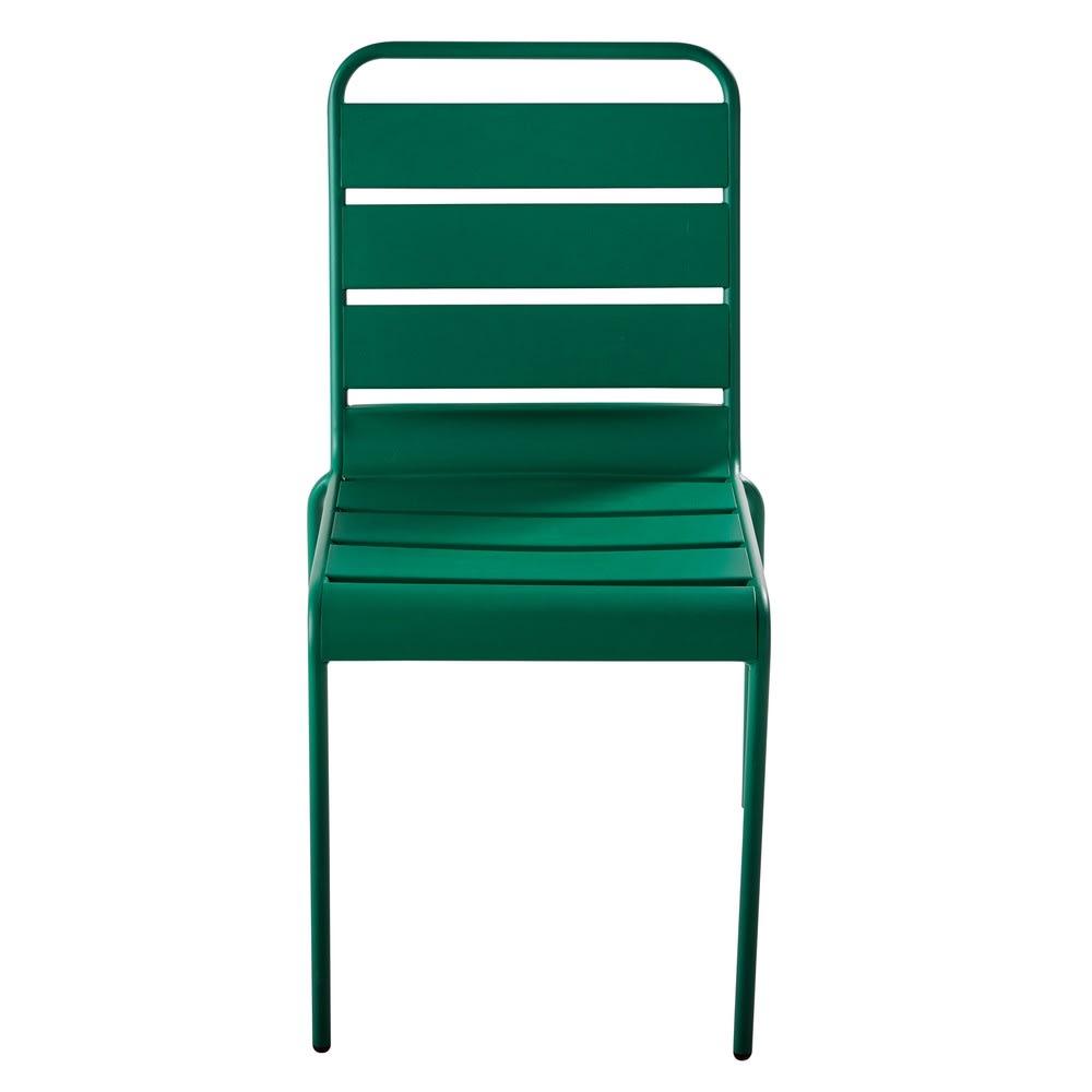chaise de jardin en m tal vert batignolles maisons du monde. Black Bedroom Furniture Sets. Home Design Ideas