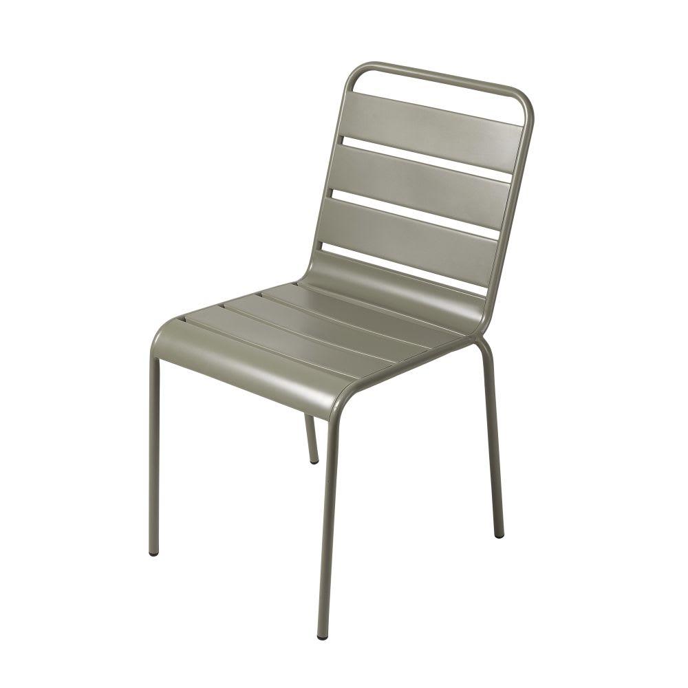 chaise de jardin en m tal vert kaki batignolles maisons. Black Bedroom Furniture Sets. Home Design Ideas