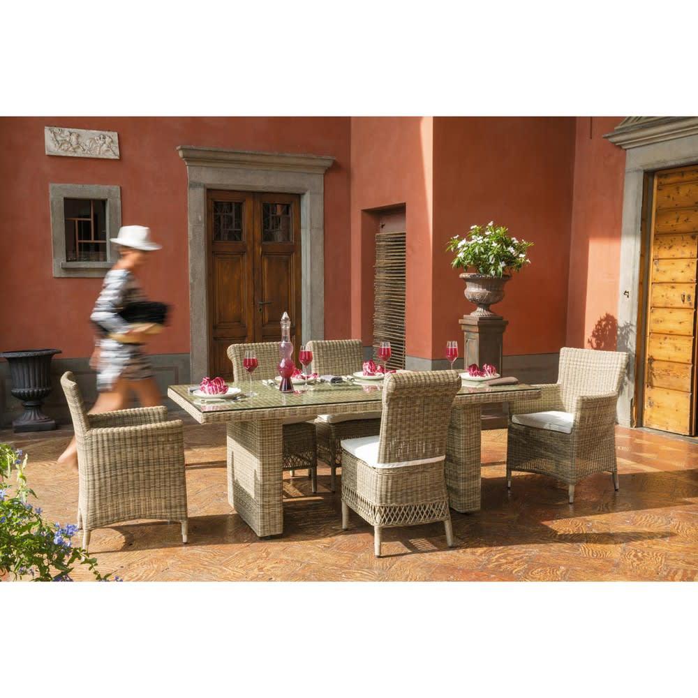 Chaise de jardin en r sine tress e st rapha l maisons du - Chaise jardin resine tressee ...