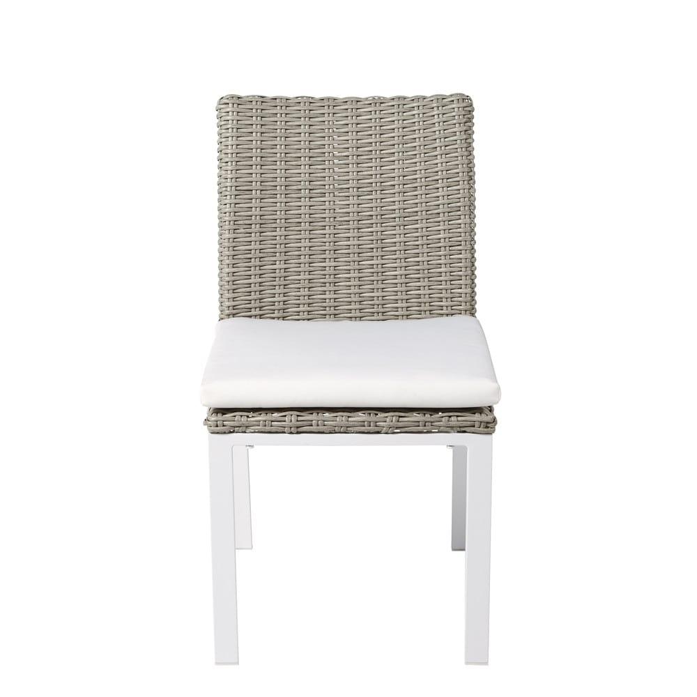 chaise de jardin en resine tress e gris clair lodge maisons du monde. Black Bedroom Furniture Sets. Home Design Ideas