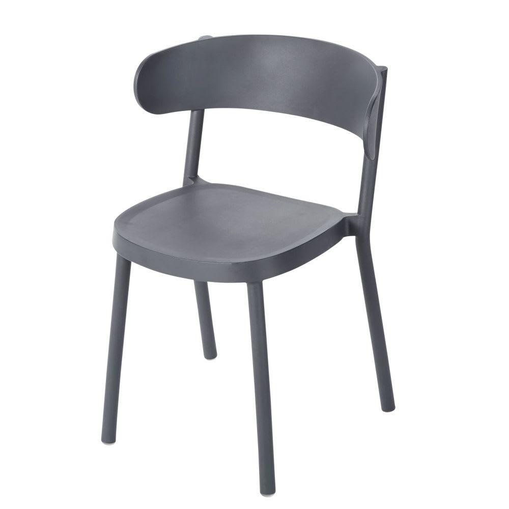 Chaise de jardin professionnelle gris anthracite iza pro maisons du monde - Chaise de jardin gris anthracite ...
