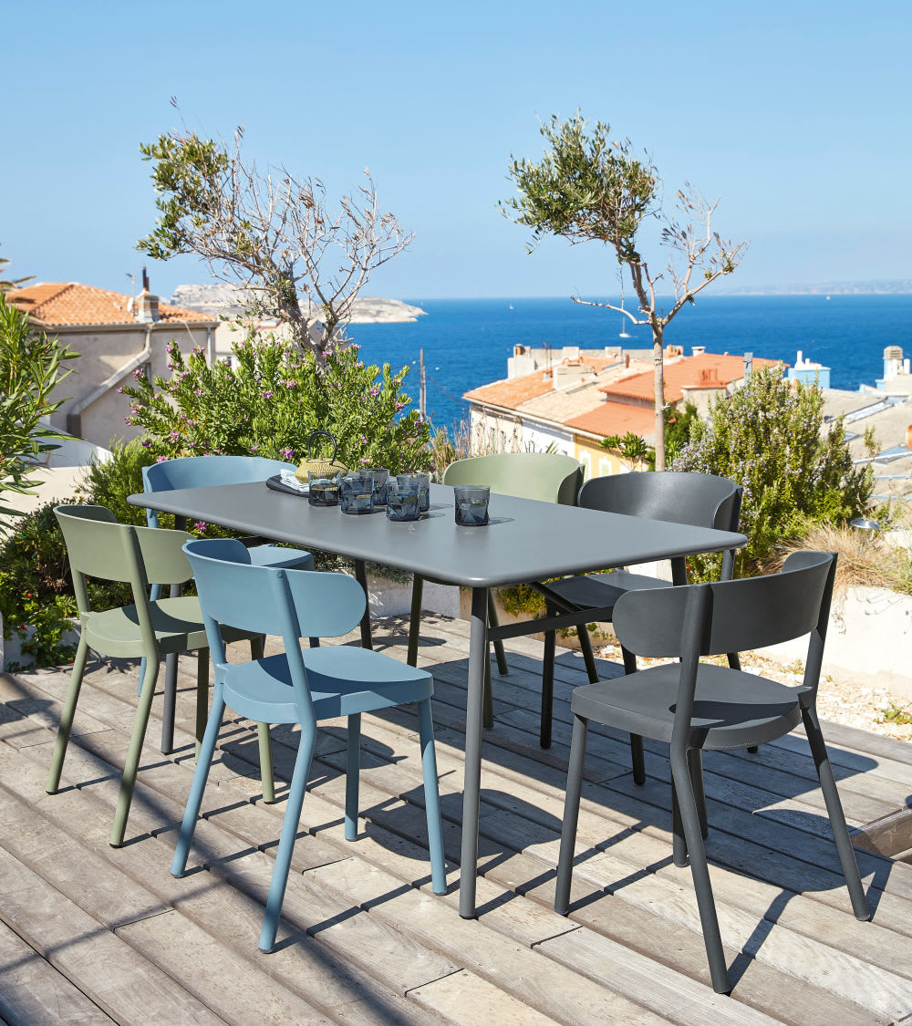 chaise de jardin professionnelle vert kaki iza pro. Black Bedroom Furniture Sets. Home Design Ideas