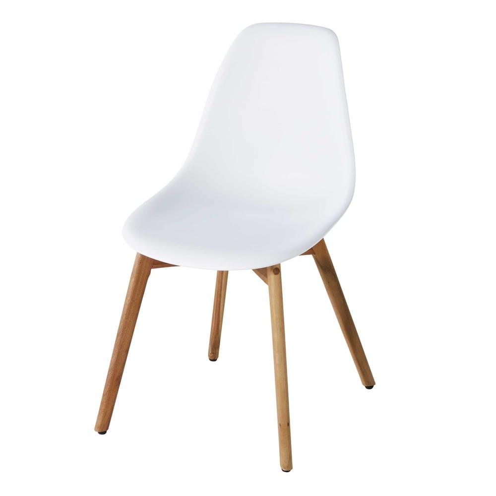 chaise de jardin style scandinave blanche lima maisons du monde. Black Bedroom Furniture Sets. Home Design Ideas