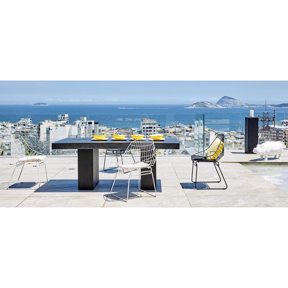 Chaise en métal noire Orsay   Maisons du Monde