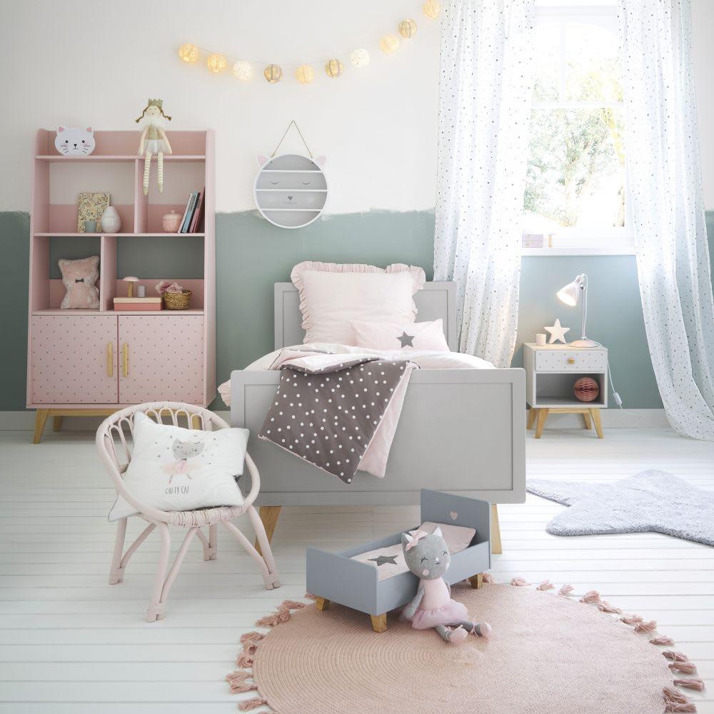 chaise enfant en rotin rose clair plume maisons du monde. Black Bedroom Furniture Sets. Home Design Ideas