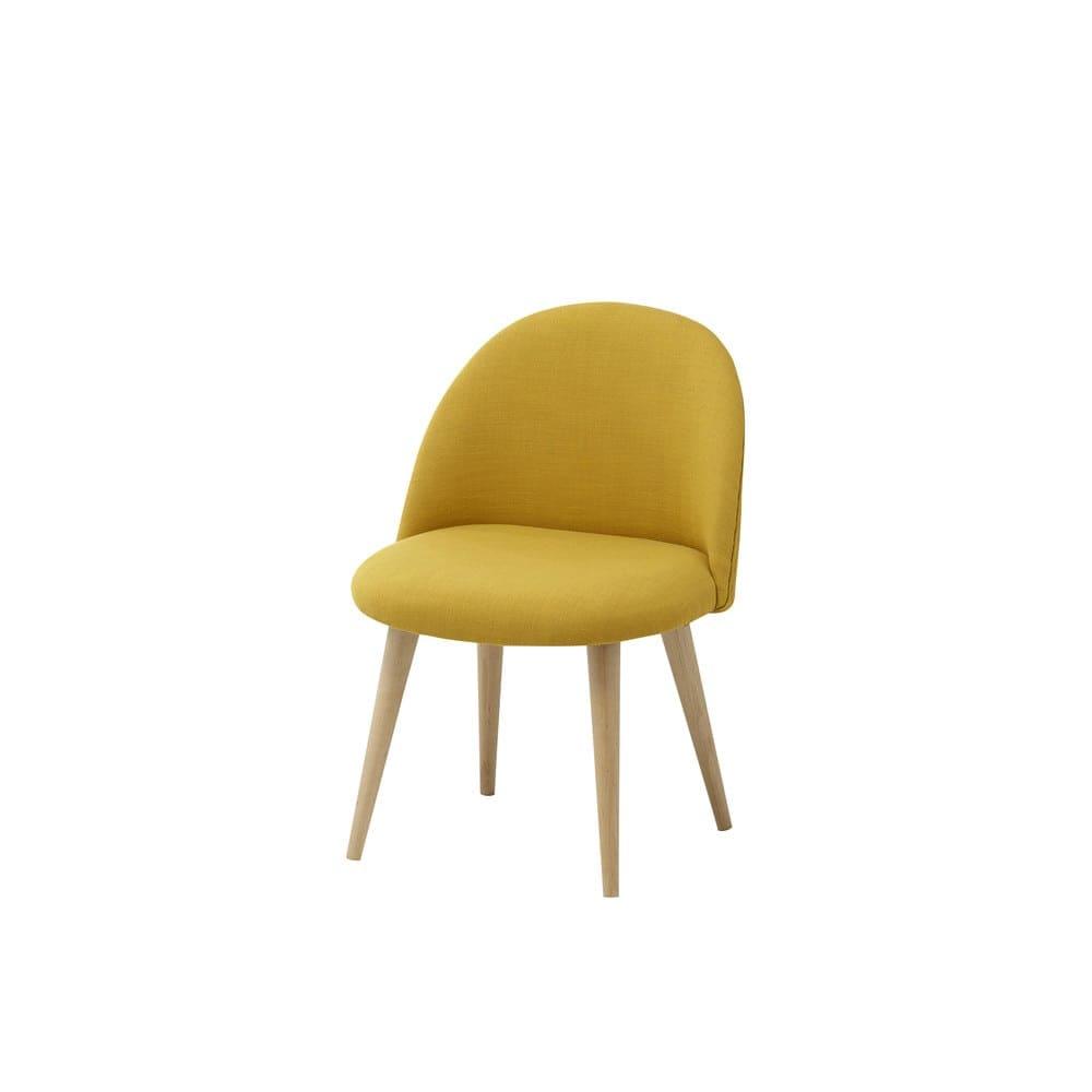 chaise enfant vintage jaune et bouleau massif mauricette. Black Bedroom Furniture Sets. Home Design Ideas