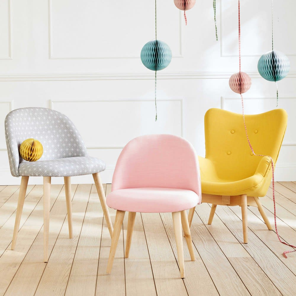 Chaise enfant vintage rose et bouleau massif mauricette maisons du monde - Chaise enfant maison du monde ...