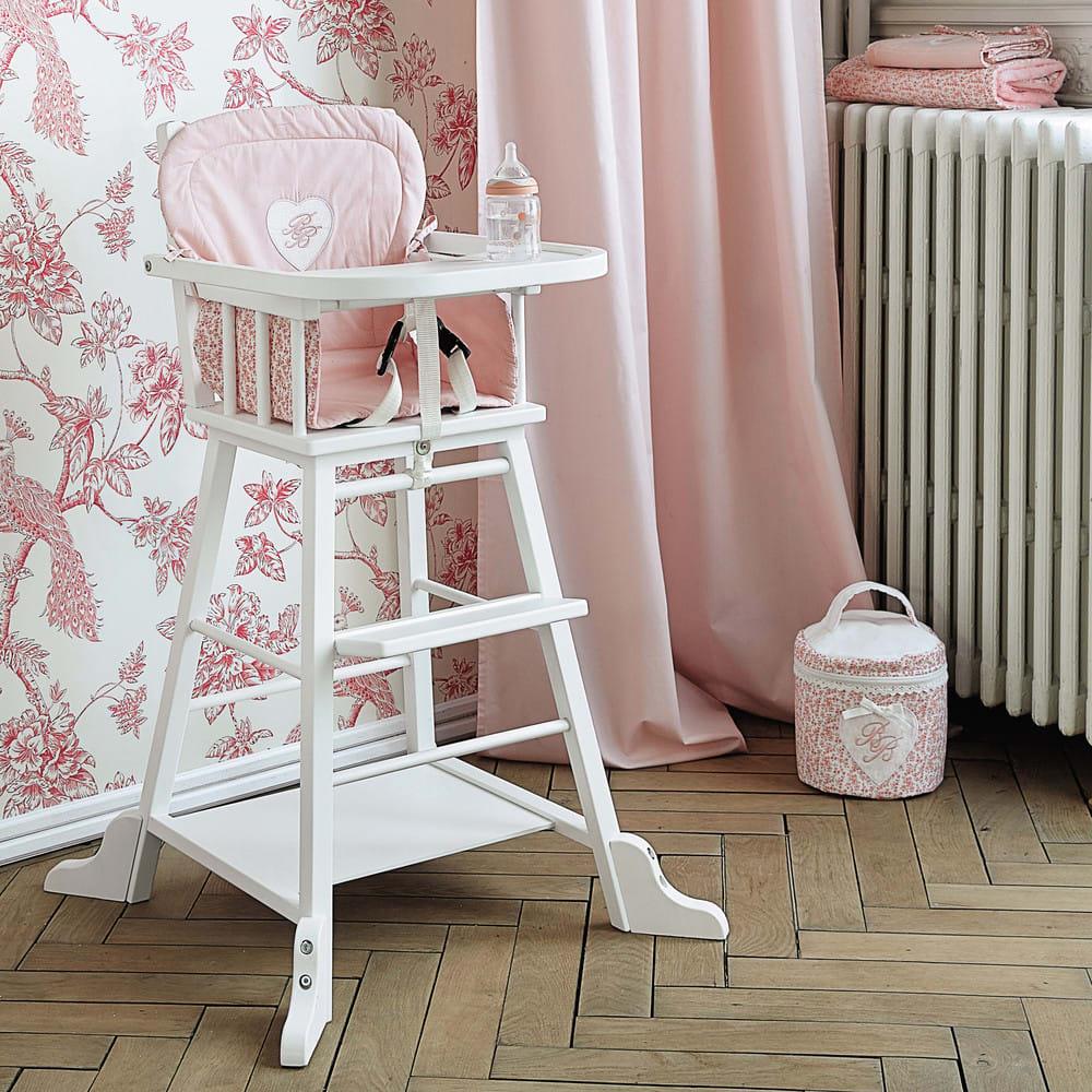 chaise haute pour b b en bois blanche songe maisons du. Black Bedroom Furniture Sets. Home Design Ideas