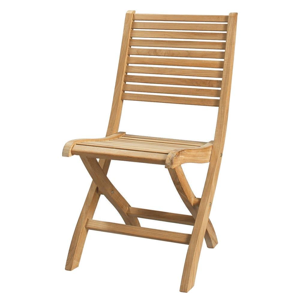 Chaise pliante de jardin en teck massif ol ron maisons Mobilier de jardin en teck massif