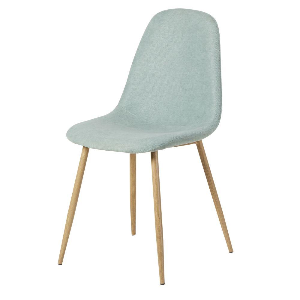 chaise style scandinave bleu clair clyde maisons du monde. Black Bedroom Furniture Sets. Home Design Ideas