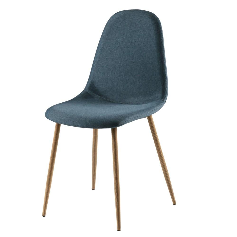 chaise style scandinave bleu jean clyde maisons du monde. Black Bedroom Furniture Sets. Home Design Ideas