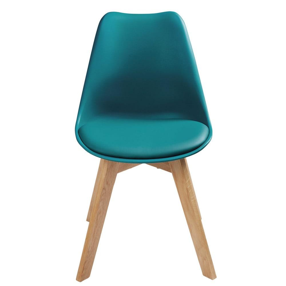 chaise style scandinave bleu p trole et ch ne ice. Black Bedroom Furniture Sets. Home Design Ideas