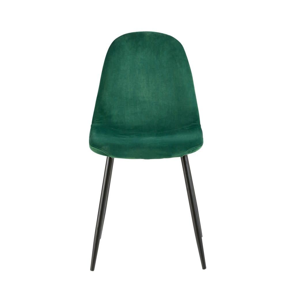 chaise style scandinave en velours vert sapin maisons du monde. Black Bedroom Furniture Sets. Home Design Ideas