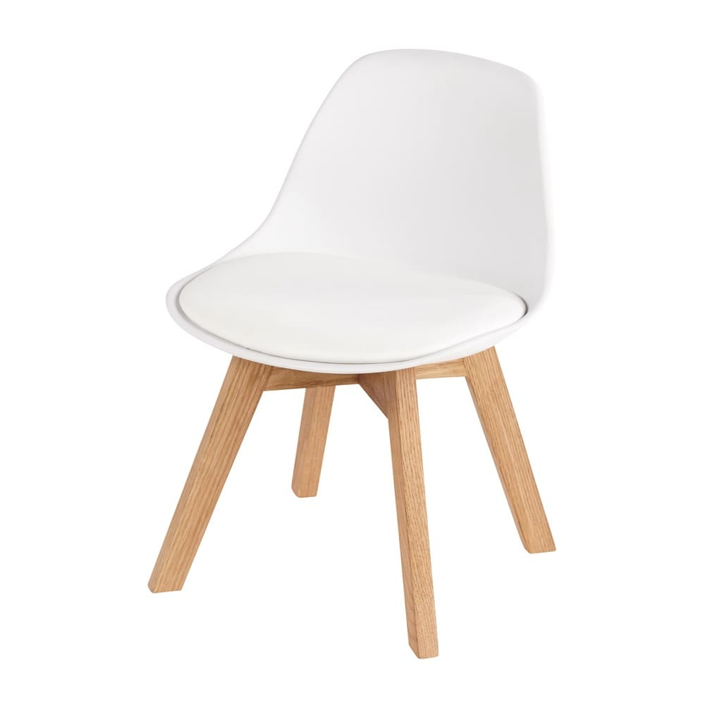Chaise Style Scandinave Enfant Blanche Et Chene Ice