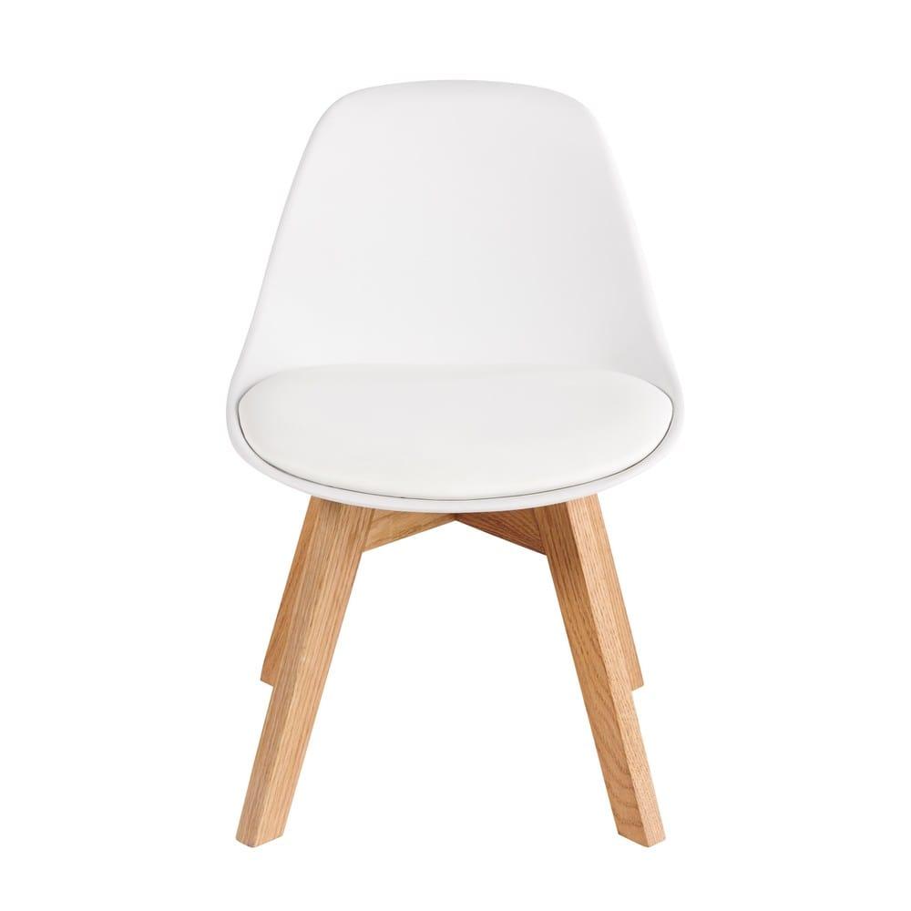 chaise style scandinave enfant blanche et ch ne ice maisons du monde. Black Bedroom Furniture Sets. Home Design Ideas