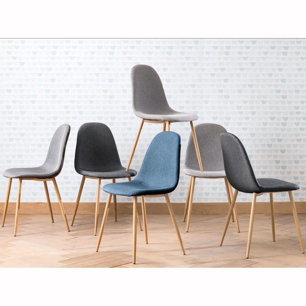 chaise style scandinave gris anthracite clyde maisons du monde. Black Bedroom Furniture Sets. Home Design Ideas