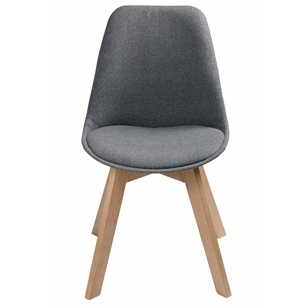 chaise style scandinave gris chin ice maisons du monde. Black Bedroom Furniture Sets. Home Design Ideas