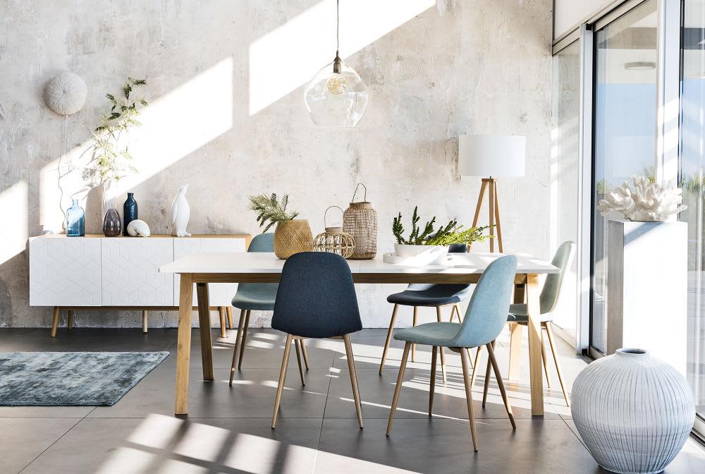 Chaise style scandinave grise clyde maisons du monde