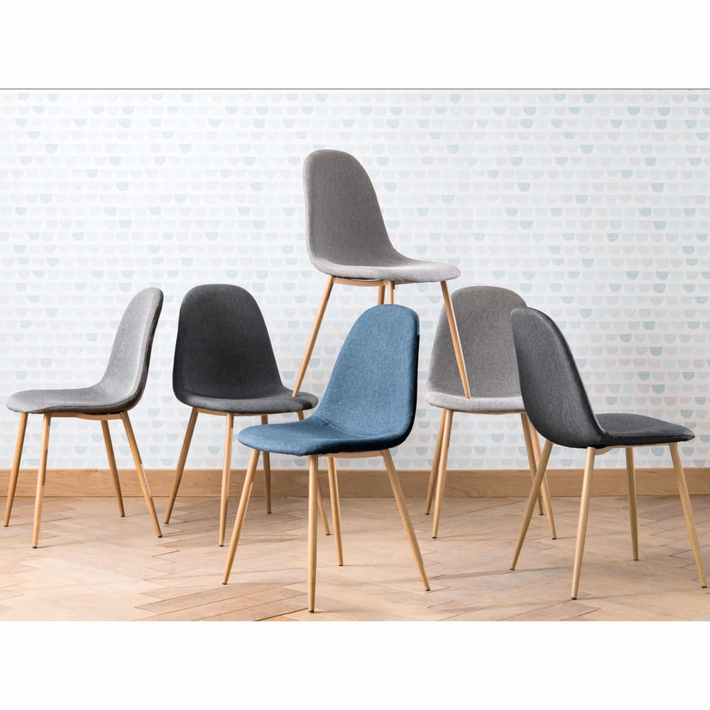 chaise style scandinave grise clyde maisons du monde. Black Bedroom Furniture Sets. Home Design Ideas