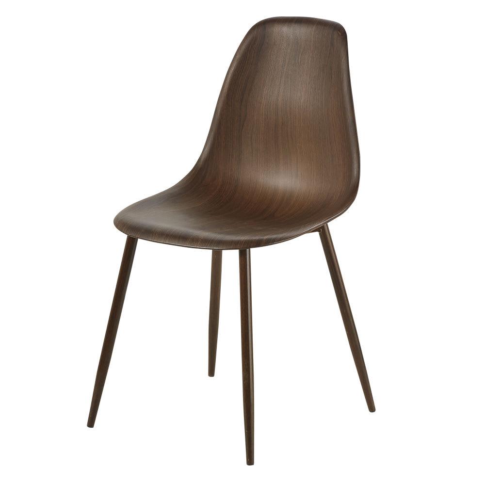 chaise style scandinave imitation bois bonny maisons du. Black Bedroom Furniture Sets. Home Design Ideas
