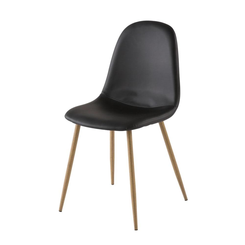 chaise style scandinave noire clyde maisons du monde. Black Bedroom Furniture Sets. Home Design Ideas