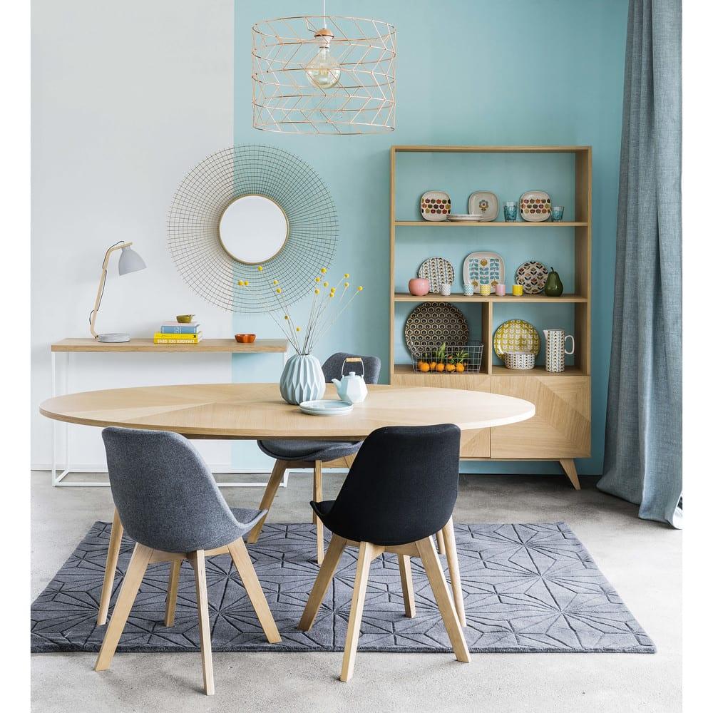 chaise style scandinave noire ice maisons du monde. Black Bedroom Furniture Sets. Home Design Ideas
