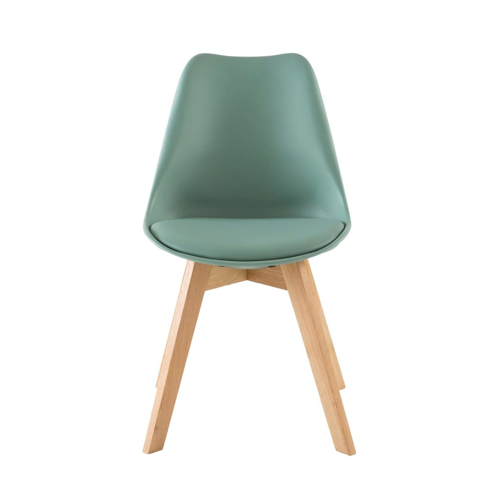 chaise style scandinave vert d 39 eau et ch ne massif ice. Black Bedroom Furniture Sets. Home Design Ideas