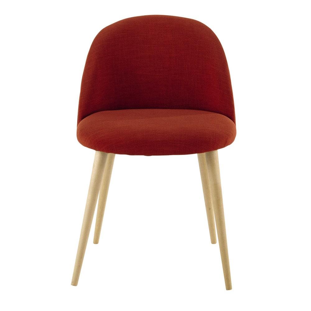 chaise vintage brique et bouleau massif mauricette. Black Bedroom Furniture Sets. Home Design Ideas