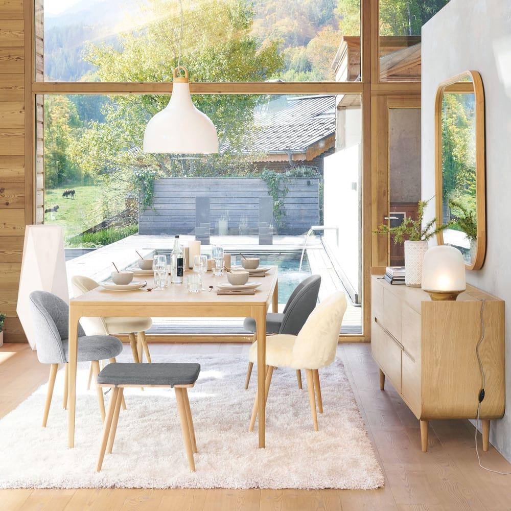 chaise vintage crue et bouleau massif mauricette. Black Bedroom Furniture Sets. Home Design Ideas