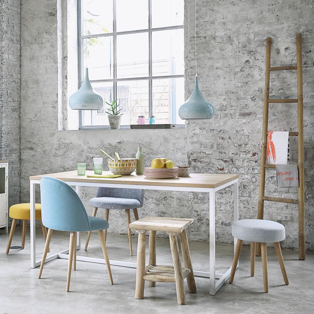 chaise vintage gris clair chin et bouleau mauricette. Black Bedroom Furniture Sets. Home Design Ideas