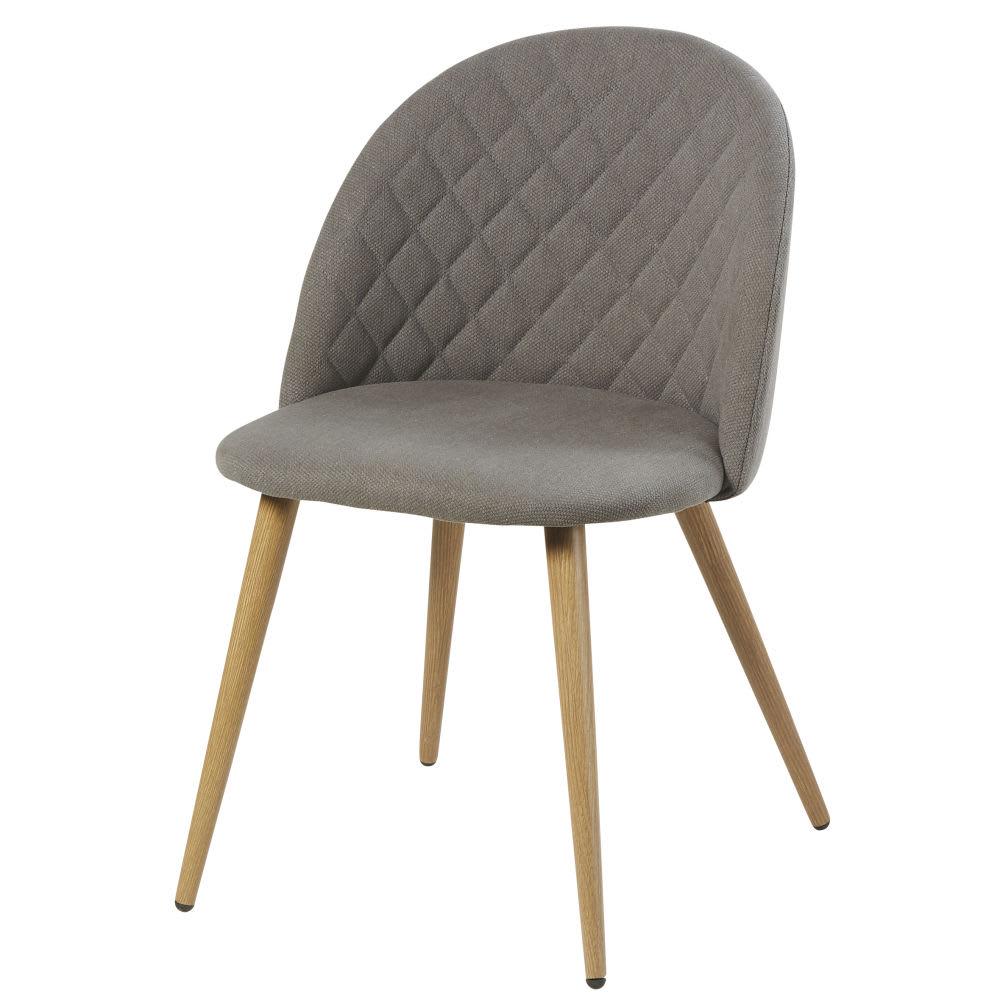 chaise vintage grise mauricette maisons du monde. Black Bedroom Furniture Sets. Home Design Ideas