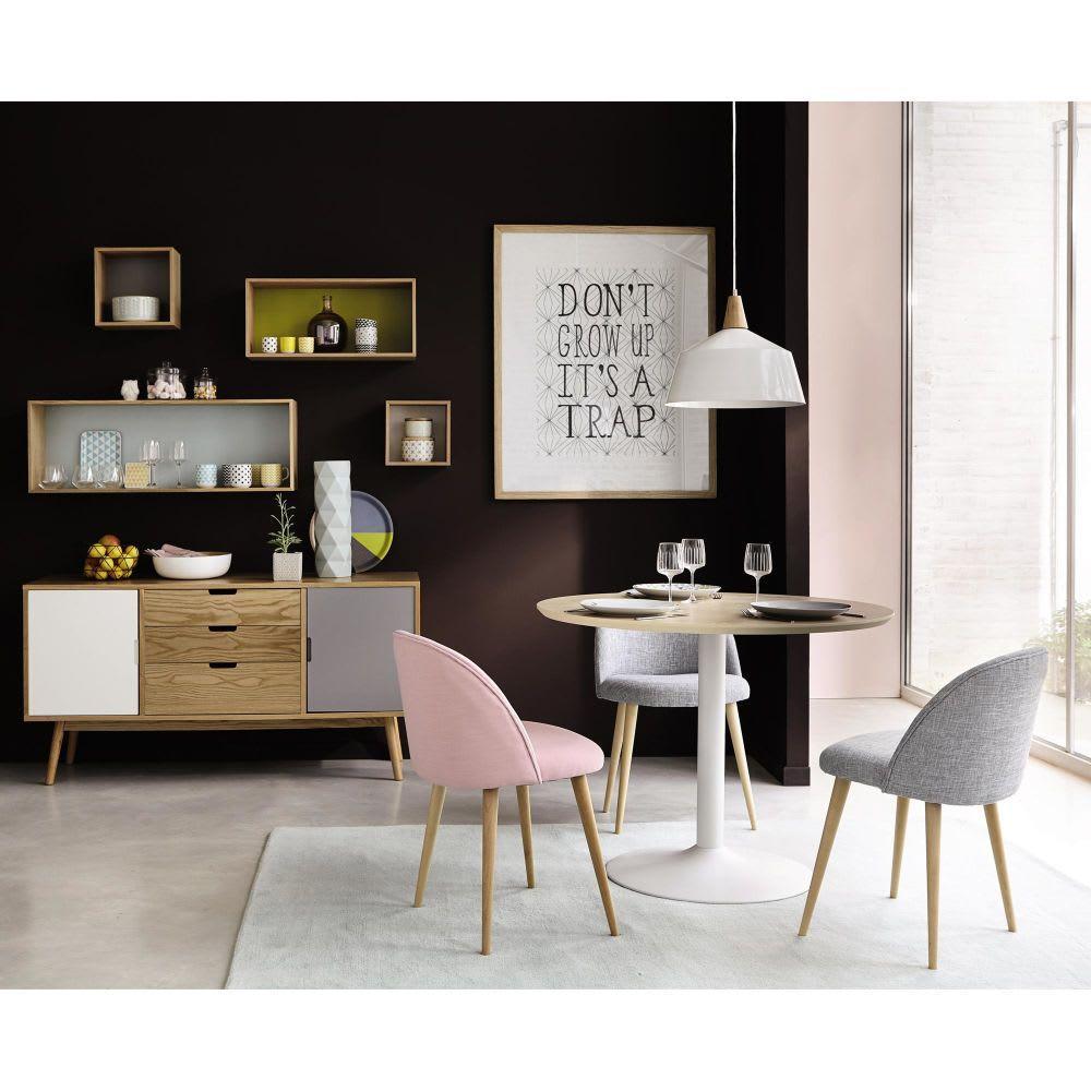 chaise vintage rose et bouleau massif mauricette maisons. Black Bedroom Furniture Sets. Home Design Ideas